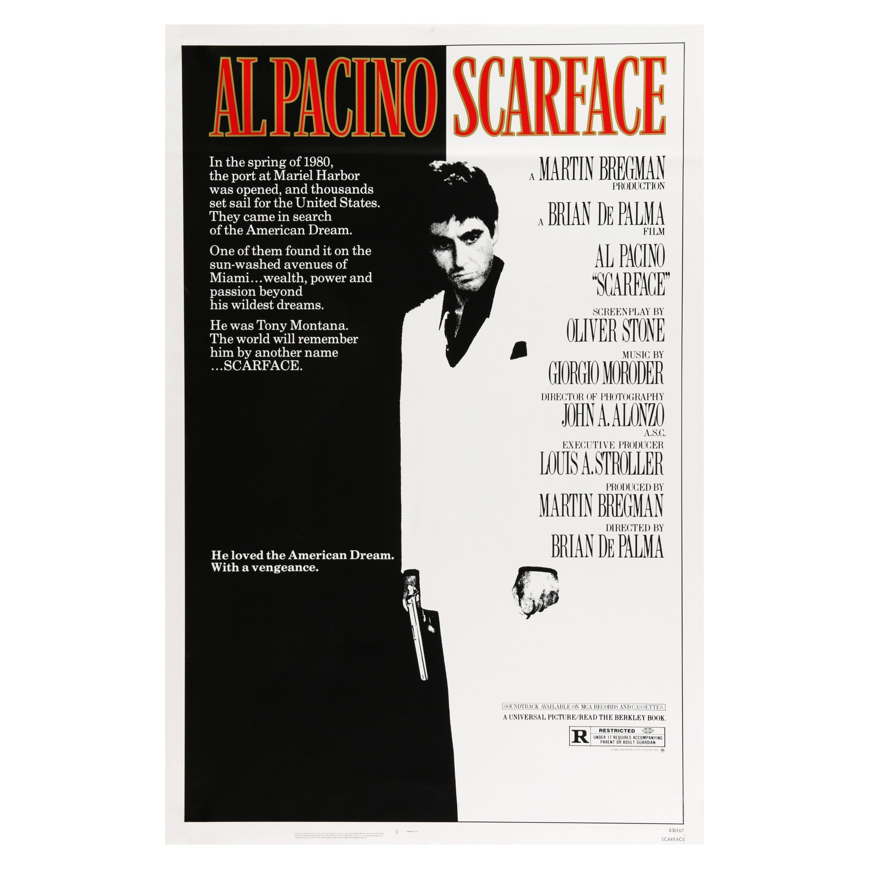 'Scarface' Original Vintage US One Sheet Movie Poster, 1983