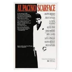 'Scarface' Original Vintage US One Sheet Movie Poster, 1983