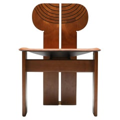 Scarpa 'Africa' Chair with Cognac Leather Seating