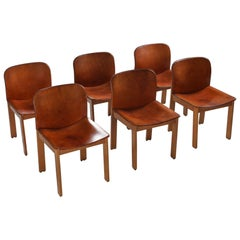 Scarpa Cognac Leather Dining Chairs