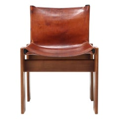 Scarpa 'Monk' Chairs in Patinated Cognac Leather