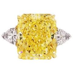 Scarselli 10 Carat Fancy Intense Yellow Diamond Engagement Ring