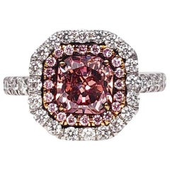 Scarselli 1.00 Carat Pink Diamonds in a Platinum Ring