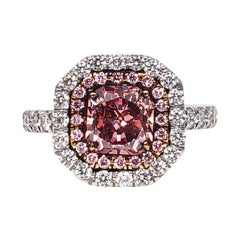 Scarselli 1.02 Carat Pink Diamonds in a Platinum Ring