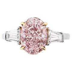 SCARSELLI 2 Carat Fancy Purple Pink Diamond Solitaire Ring GIA