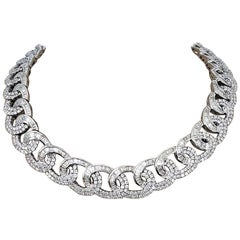 Scarselli Linkage Necklace 54.50 Carat of White Diamonds