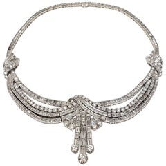 Scarselli The Duchess Platinum Necklace with 35.64 carats of White Diamonds