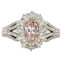 Scarselli Vintage Ring 0.48 Fancy Light Pink GIA Certified