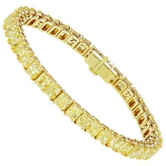 Scarselli Yellow Diamond Line Bracelet 26.75 Carat