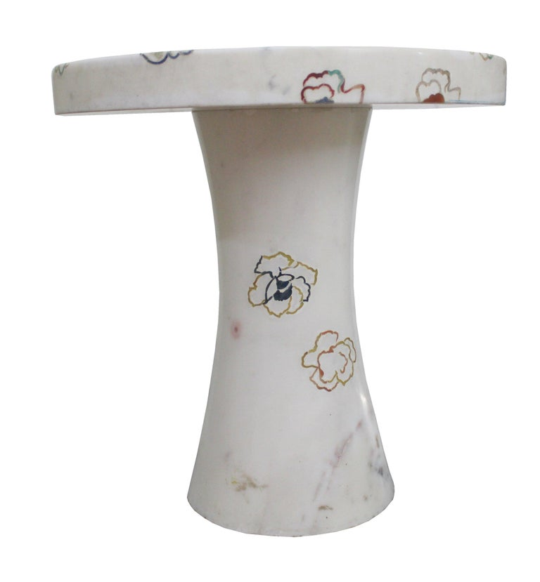 Other Repeating Roses Table, Pietra Dura. By Stephanie Odegard Co. Ltd. For Sale