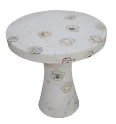 Repeating Roses Table, Pietra Dura. By Stephanie Odegard Co. Ltd.