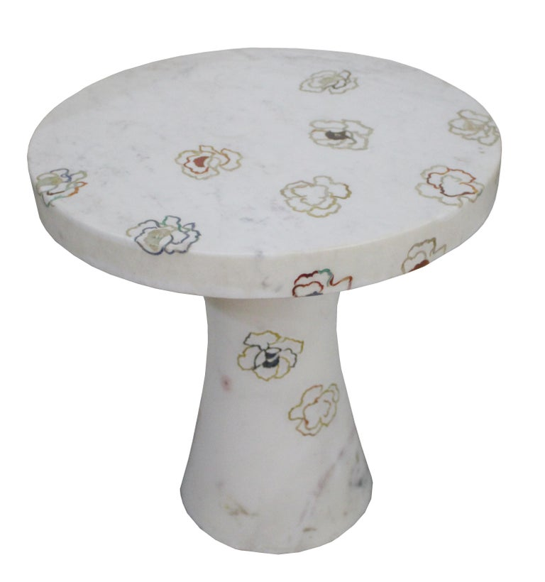 Repeating Roses Table, Pietra Dura. By Stephanie Odegard Co. Ltd. For Sale