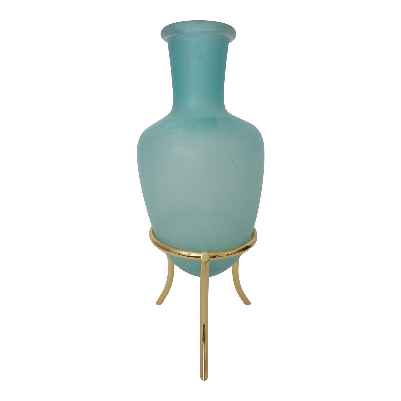 Scavo Corroso Murano Glass Amphora