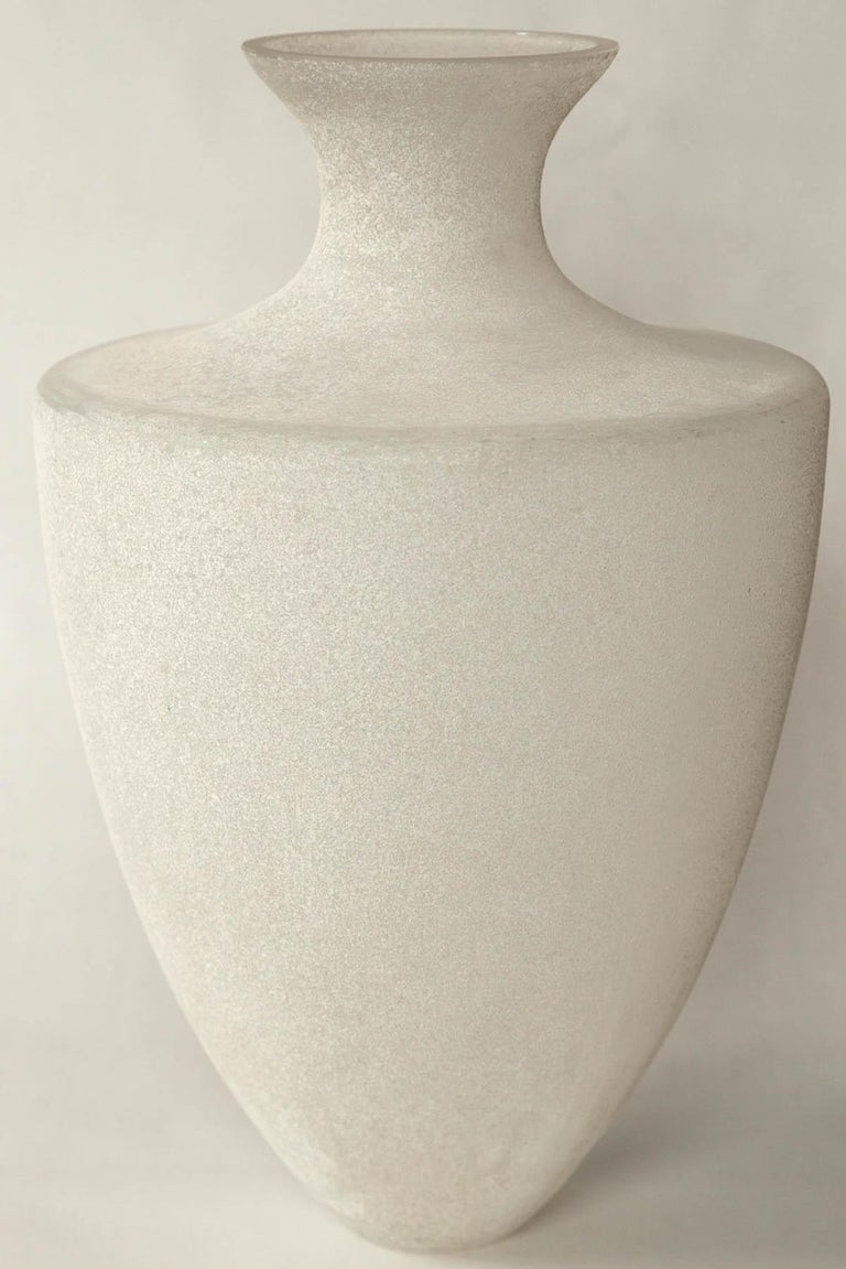 Scavo Glass Vase by Seguso, Murano, Italy, 20th Century For Sale 1