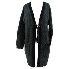 Scee Green Blue cardigan Wool sweater
