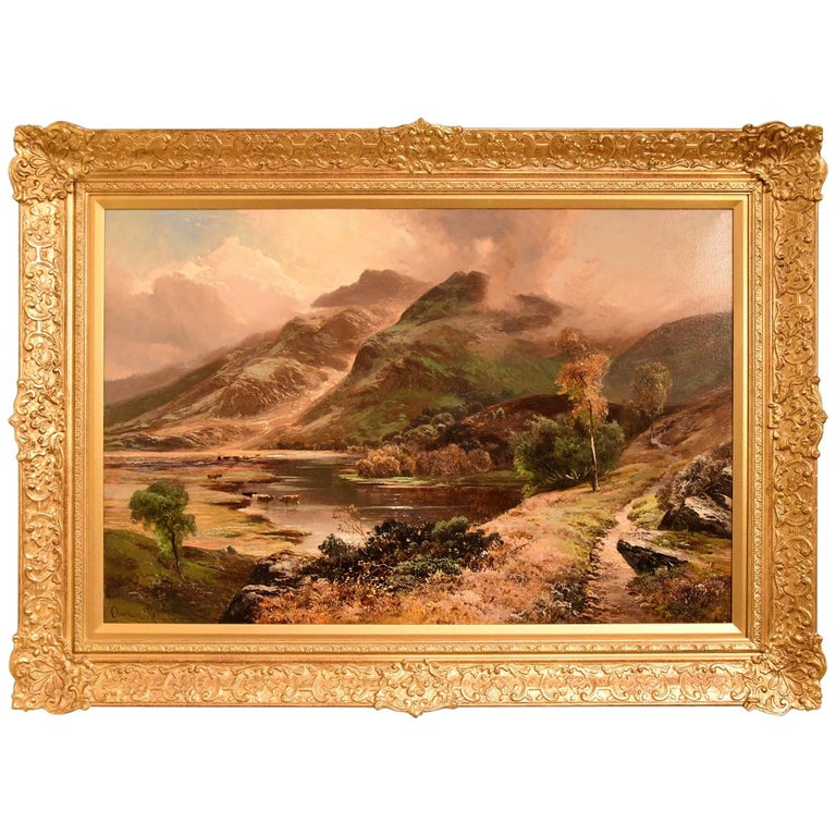 """Scene in North Wales"" Oil painting by Clarence Roe For Sale"