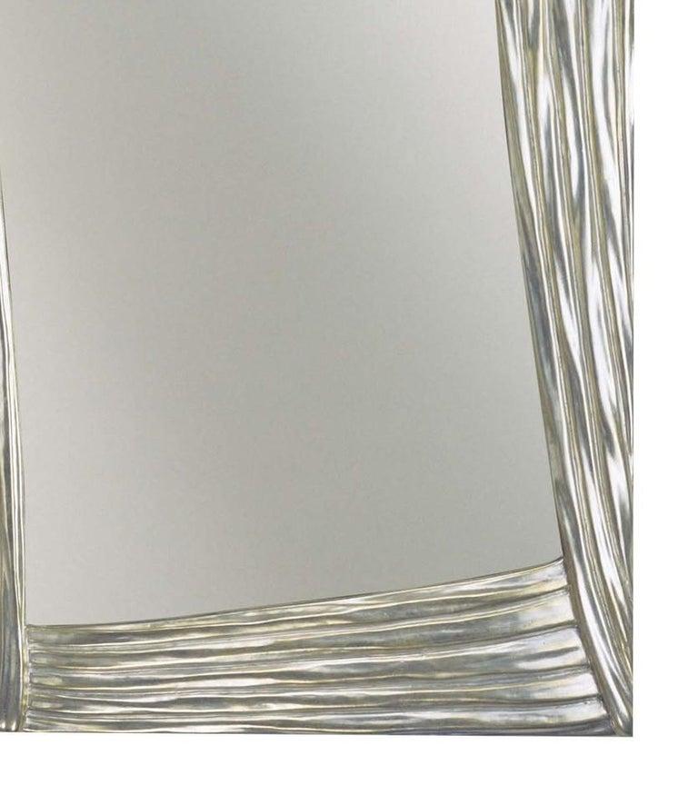 Italian Scene Silver Mirror by Spini Firenze