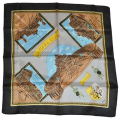 """Scenes of Roma With Black Borders"" Scarf"