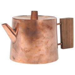 Schaefer Handarbeit Tea Pot Copper, 1960s