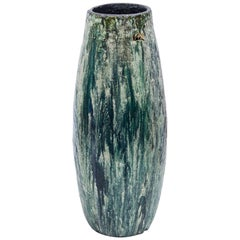 Schäffenacker Floor Vase Green White, 1960s
