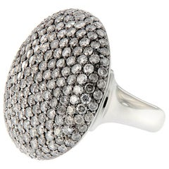 Scheffel Fancy Grey Diamond Cluster Dome Cocktail Ring