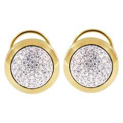 Scheffel, Schmuck 18 Karat Gold and Diamond Bubbles Collection Stud Earrings