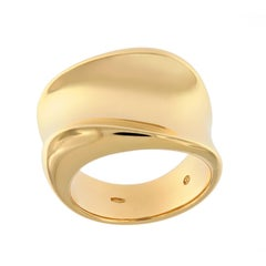 Scheffel Wide Band Yellow Gold Fashion Ring