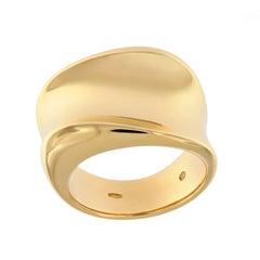 Scheffel Wide Band Yellow Gold Fashion Ring
