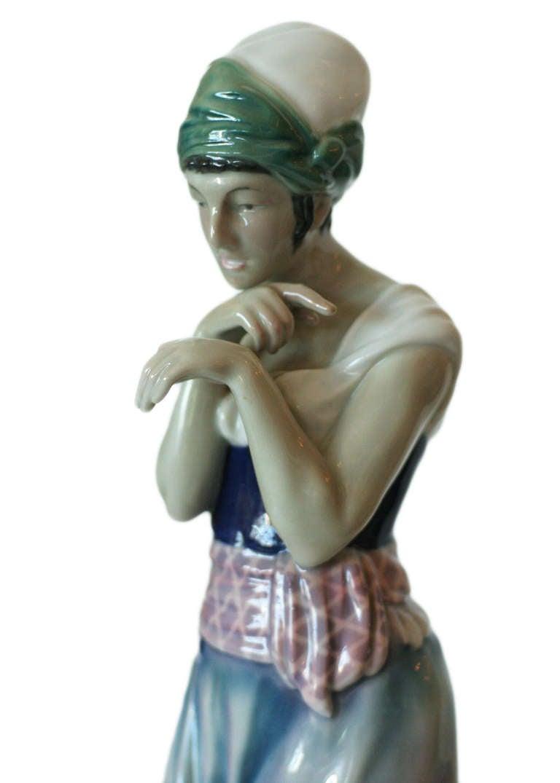 Mid-Century Modern Scheherazade Porcelain Statue by Volkstedt For Sale