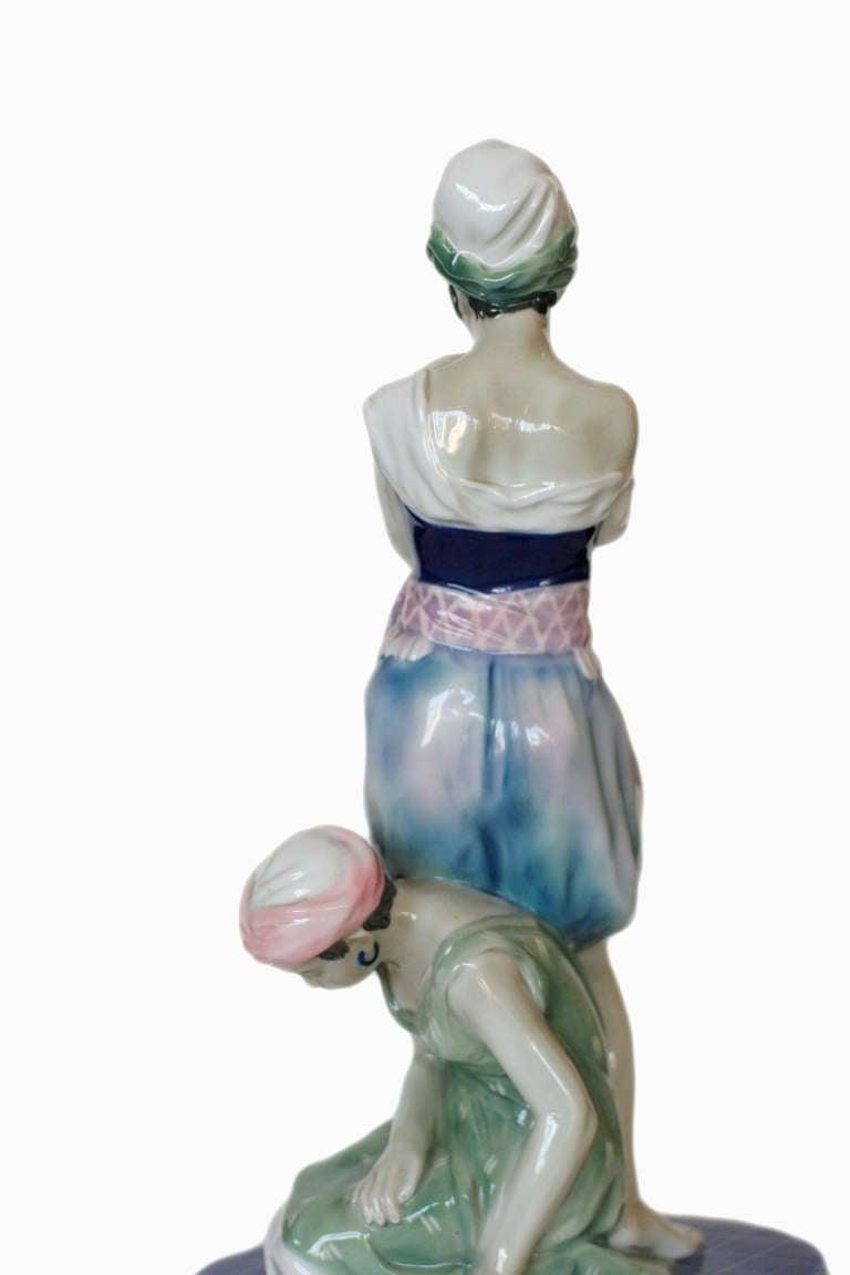 German Scheherazade Porcelain Statue by Volkstedt For Sale