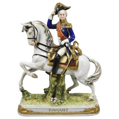Scheibe-Alsbach Davoust Napoleon Porcelain Figurine, Germany