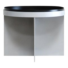 Schellmann Art Furniture Minimal Conceptual Aluminium Low Black Tray Round Table