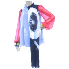 Schiaparelli Modern Silk Chiffon Blouse May Ray Trust Collection c 2018