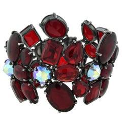 Schiaparelli Vintage Multi-Crystal Link Bracelet