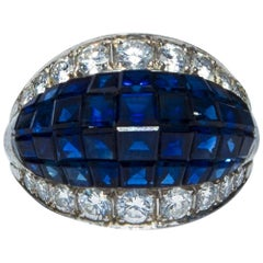 Schilling Sapphire and Diamond Cocktail Ring