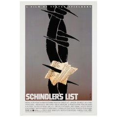 Schindler's List Original US Film Poster, Saul Bass, 1993