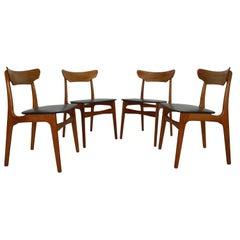 Schiønning & Elgaard for Randers Møbelfabrik Set of 4 Teak Dining Room Chairs