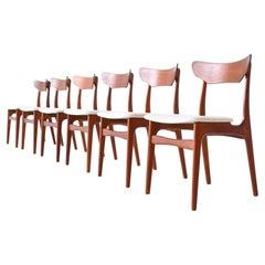 Schionning & Elgaard Teak Dining Chairs Randers, Denmark, 1960