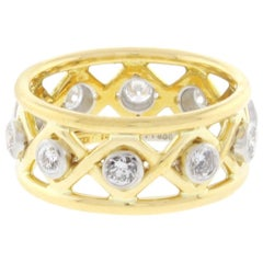 530c9e761 Tiffany and Co. Schlumberger Burma Unheated Sapphire Diamond Gold ...