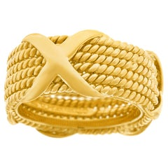Schlumberger for Tiffany & Co. Gold X-Ring