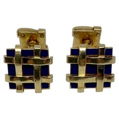 Schlumberger Yellow Gold and Enamel Cufflinks Retailed by Tiffany & Co.
