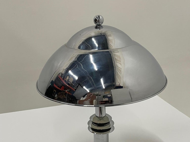 Late 20th Century Schnazzy Jay Spectre Chrome Desk or Table Lamp For Sale