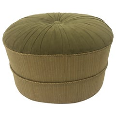 Schnazzy Oval Ultrasuede Ottoman Pouf