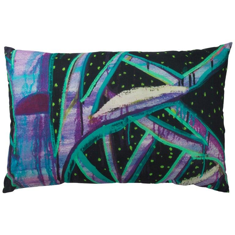 Schneider Cushion by Ryan Schneider for Normann X Brask Art Collection For Sale