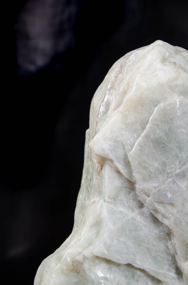 Contemporary Scholar Rock, Nephrite Jade by Robert Kuo, Hand Carved, Limited Edition For Sale