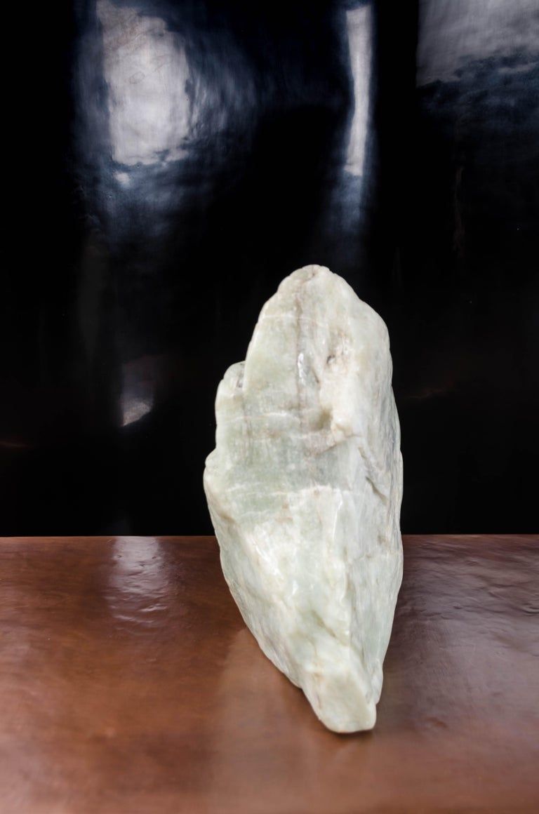 Scholar Rock, Nephrite Jade by Robert Kuo, Hand Carved, Limited Edition For Sale 1