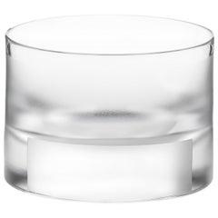 Scholten & Baijings Handmade Irish Crystal Low Glass 'Elements' Series Cut No II