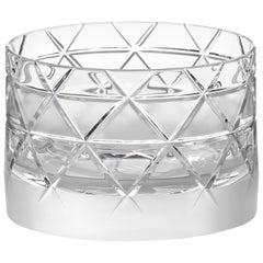 Scholten & Baijings Handmade Irish Crystal Low Glass 'Elements' Series CUT NO V