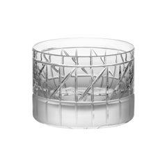 Scholten & Baijings Handmade Irish Crystal Low Glass 'Elements' Series CUT NO VI