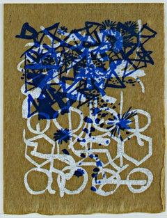 """Season's Greetings,"" abstract holiday silkscreen by Schomer Lichtner"